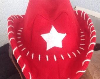 Baby, Infant, Toddler, Child Cowboy Hat, Felt....PICK YOUR COLOR