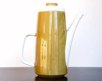 Vintage Mikasa Mediterrania Avocado Green Teapot Coffee Pot 4996 | Made in Japan