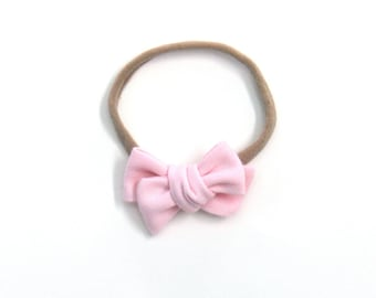 Light Pink Mini Knotted Bow
