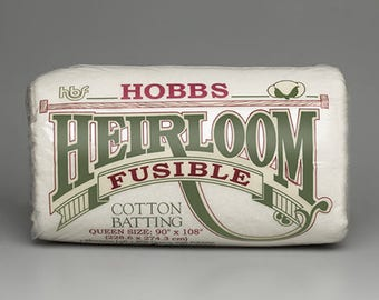 Hobbs Heirloom Premium 80/20 Fusible Cotton Blend - Quilt Batting, Wadding, double-sided, bonded & needle-punched