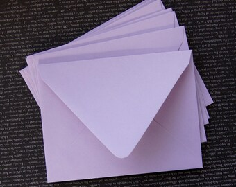 "10 Pointed Flap A2 Envelopes in Plum (light purple) .  4 3/8"" x 5 3/4"