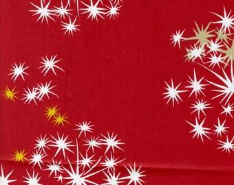 Fabric red white yellow stars salute Cotton Fabric House textilies Fabric Scandinavian Design Scandinavian Textile