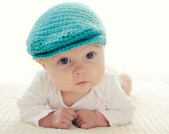 "Newsboy Hat Crochet Pattern ""Seamus Scally Cap"" Child Sizes"