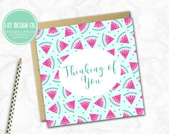 Thinking of You Card {WATERMELONS}