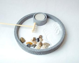 Zen Garden/ Yoga Gifts/ Mini Zen Garden/ Office Decor for Women/ Gift for Her/ DIY kit/ DIY/ Yoga Decor/ Zen Decor/ Meditation/ Zen