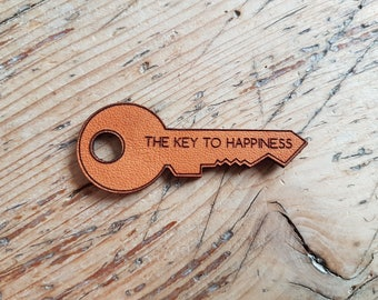 Leather Key - The key to happiness