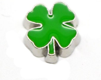 St Patrick's Day Shamrock Floating Charm for Glass Memory Locket - 1 Charm