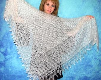 White shawl,Hand knit shawl,Lace shawl,Wedding shawl,Russian shawl,Kerchief,Bridal cover up,Warm cape,Handmade shawl,Wool wrap,Fur stole