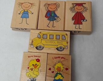 Children stamping blocks