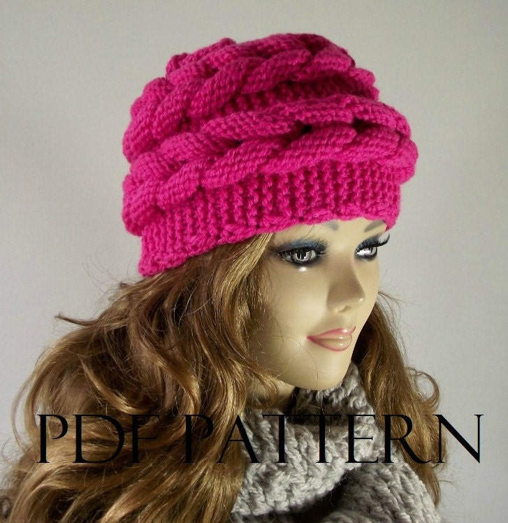 KNITTING HAT PATTERN Aralenna Hat Beret knit hat pattern