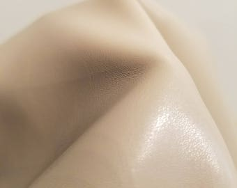 Bone Cream Offwhite Faux leather Pleather sold by the yard 36 inches x 52 inches wide Synthetic for one yard.  1 yard