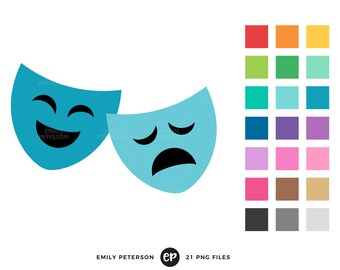 mask clipart etsy rh etsy com theater mask clip art theater mask clipart free
