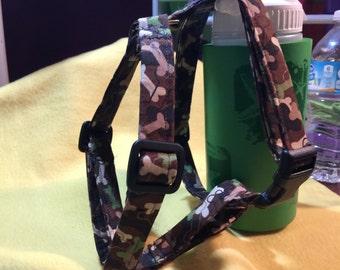 Dog bone camo harness