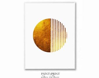 Gold Foil Print, Geometric Print, Foil Print, Gold Foil Art, Large Wall Art Prints, Abstract Art Prints, Printable Art, Minimalist Art Print