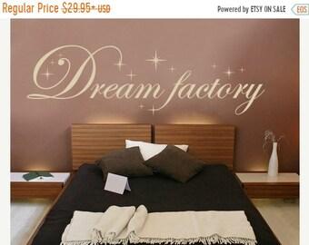 20% OFF Summer Sale Dream Factory wall decal, sticker, mural, vinyl wall art