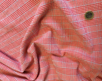 Fabric weave tartan for blouses, dresses... Scrunched up look