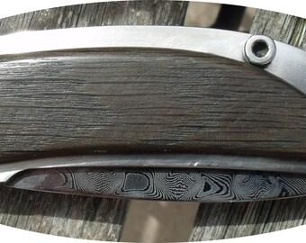 Folding knife Damascus
