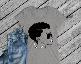 Black Girl Magic- Shirt- Afro Girl- Afro Pride- Black Panther- Black History Month