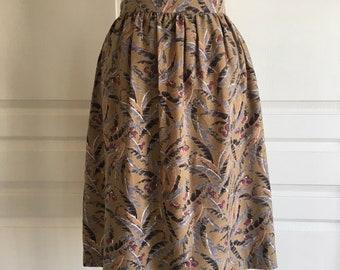 Women's Palm Print High Waisted Pencil Skirt Size 26
