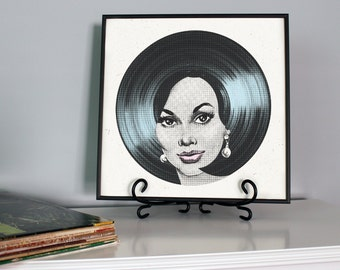Vinyl Record Print, Record Player Vintage, Music Print, Retro Hair, Record Poster, Home Decor