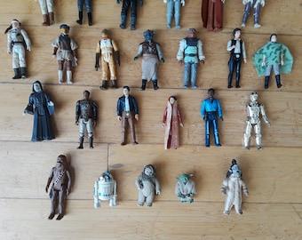 Vintage Star Wars Figures Lot of 35
