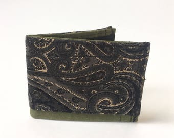 Bifold wallet, men's wallet, recycled wallet