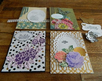 Card Kit, 4 Unfinished -Lovely for Aunt, Mom, CoWorker, any of the ladies on your list