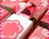 Valentine's Matchbox Goodies - With a Surprise Heart-Shaped Rainbow Recycled Crayon Tucked Inside - Set of Three (3) - Eco Friendly