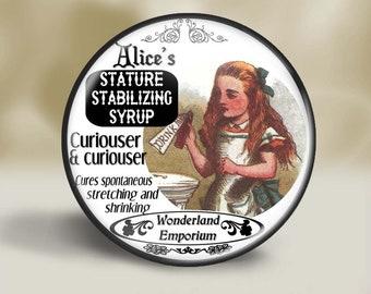 Alice in Wonderland Magnet, 2.25 Inch, Pocket Mirror, Pin or Christmas Ornament, Alice in Wonderland magnet, Wonderland Gift