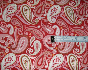 """100% Cotton Fabric BTY - """"Bailey Paisley"""""""
