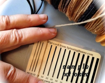 On SALE Wpi Wraps per inch gauge guide for Spinners and Knitters  Control Card