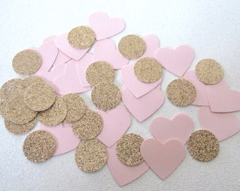 230 Rose Gold Blush Pink Confetti Table Confetti Table Scatter Glitter Confetti Metallic Confetti Girl First Birthday Pink Gold Party