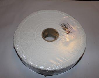 Strap shoulder 100% cotton white 30mm