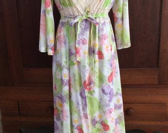 M / Barad / Peignoir Set  /Robe and Nightgown / Medium