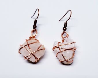 Wire Wrapped Calcite Earrings
