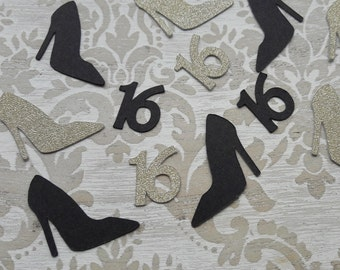 16th Birthday Party Decorations High Heels Shoes Table Confetti Party Favors