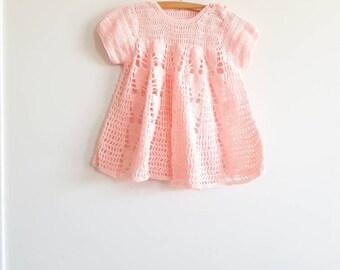 Vintage Pink Knit Dress