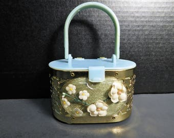 1950's Childs's Lucite and metal purse