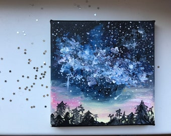 Milky Way, Galaxy Sky Canva