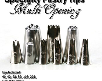 Multi-Opening Tips - Pastry Tip Set