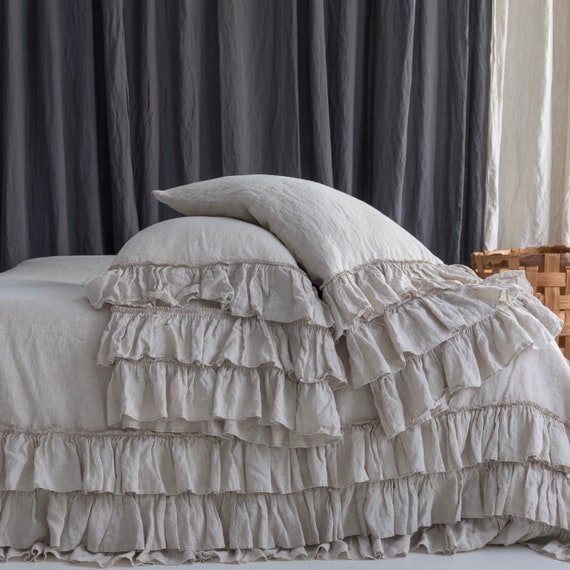Merveilleux Linen Bedding Set. French Style Thick