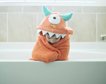 Yikes Twins One Eyed Orange Monster with turquoise horns