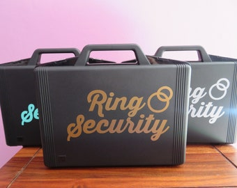 Ring Security Box, comes with RING HOLDER inside, Wedding box, Ringbearer Ring Agent, Ring Security Briefcase