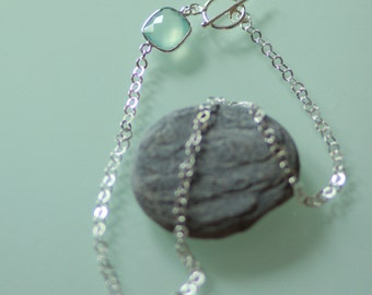 Ras massive silver neck collar and blue chalcedony