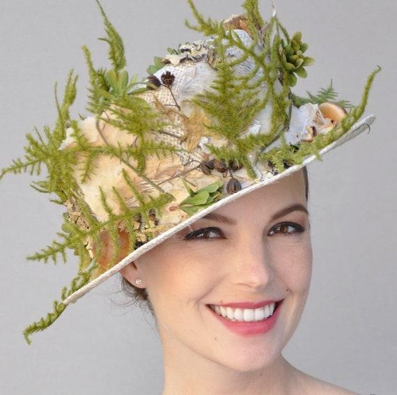 Derby hat, Formal Hat, Unique Hat, Garden Party Hat, wedding hat, woodland hat