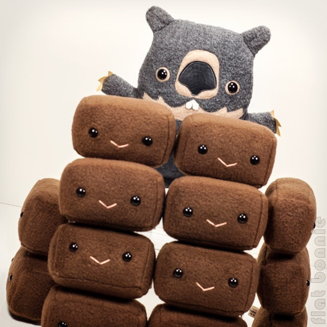 Wombat Poop Plush 1 Square Wombat Poo Plushie Wombat Stuffed-3716