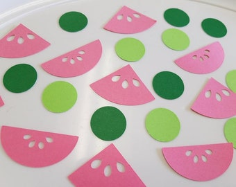 Watermelon confetti, watermelon table scatter, watermelon birthday decorations, watermelon party