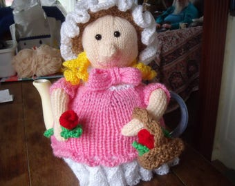 Flower Girl Tea Cosy to fit a 6 cup tea pot.