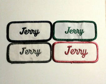 Vintage Jerry Name Patches