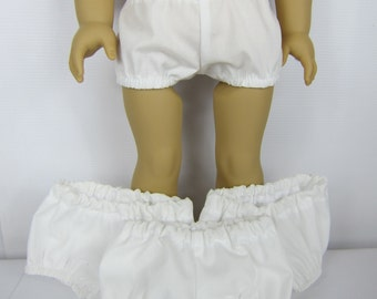 """18"""" Doll Clothes, 18"""" Doll underwear, Set of 4 white underwear, 15"""" Baby Doll panties, Handmade 15"""" to 18"""" Girl Doll Clothes, free shipping"""